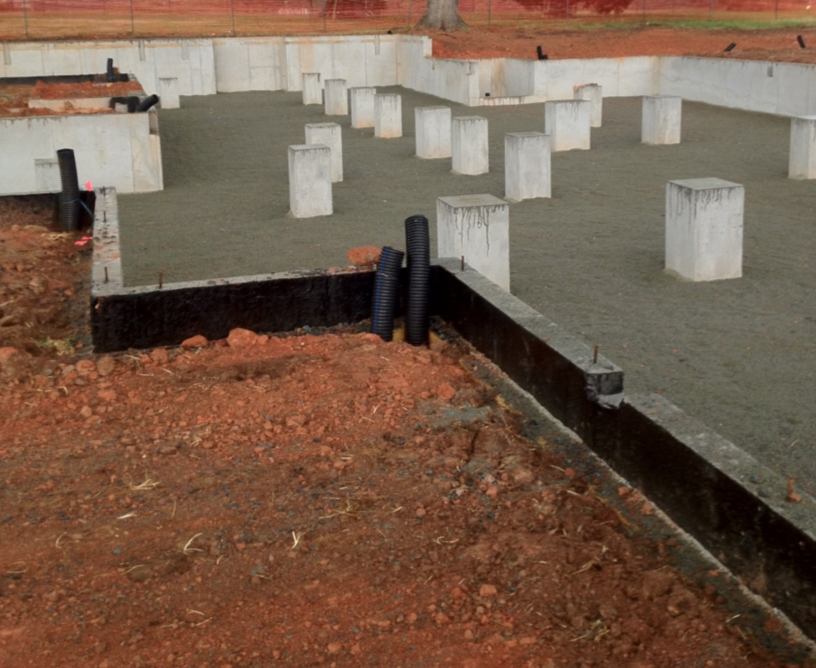 Residential concrete foundation raleigh nc icf for Best temperature to pour concrete foundation